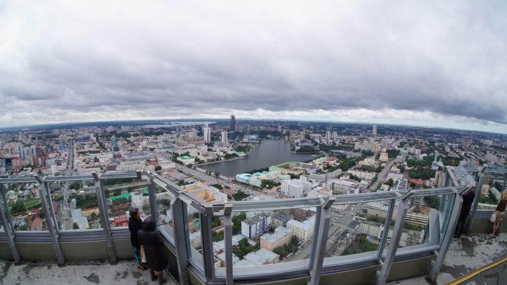 Вид со смотровой площадки Высоцкий